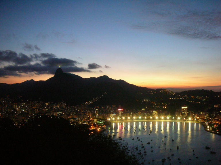 Night view of Rio from Pao de Azucar (Sugarloaf)