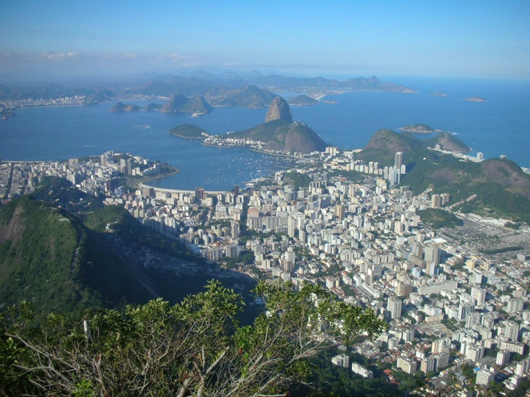 View of Pao de Azucar from Corcovado