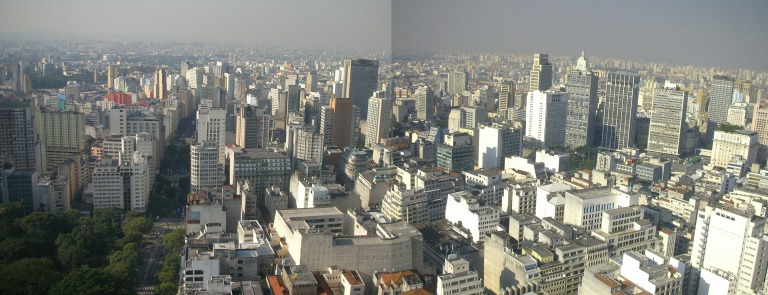 View of  Sao Paulo from the tower 'Edificio Italia'