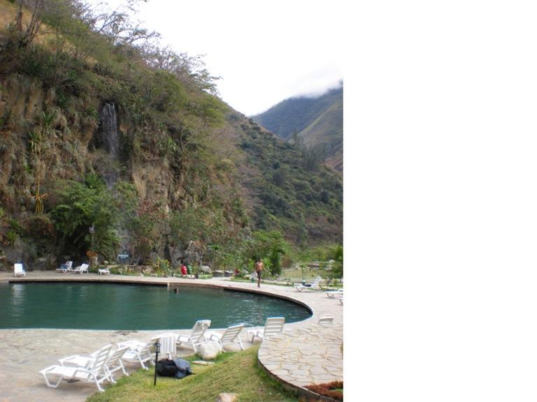 Hot spring center in the mountains, Santa Teresa, Peru
