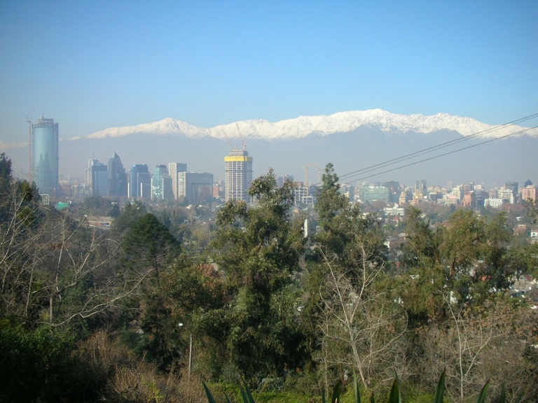 View of Santiago from Cerro San Sebastian