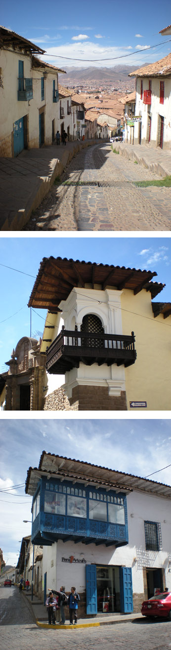 Cusco architectural style : nice and original mixture of the spanish and the indigenous