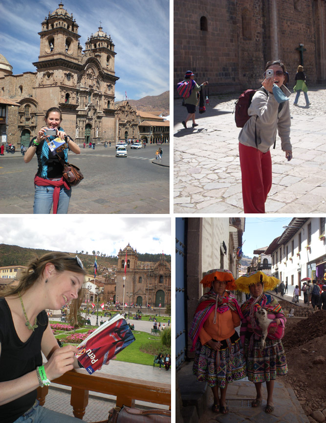 Mariana and me ; tourists in Cusco