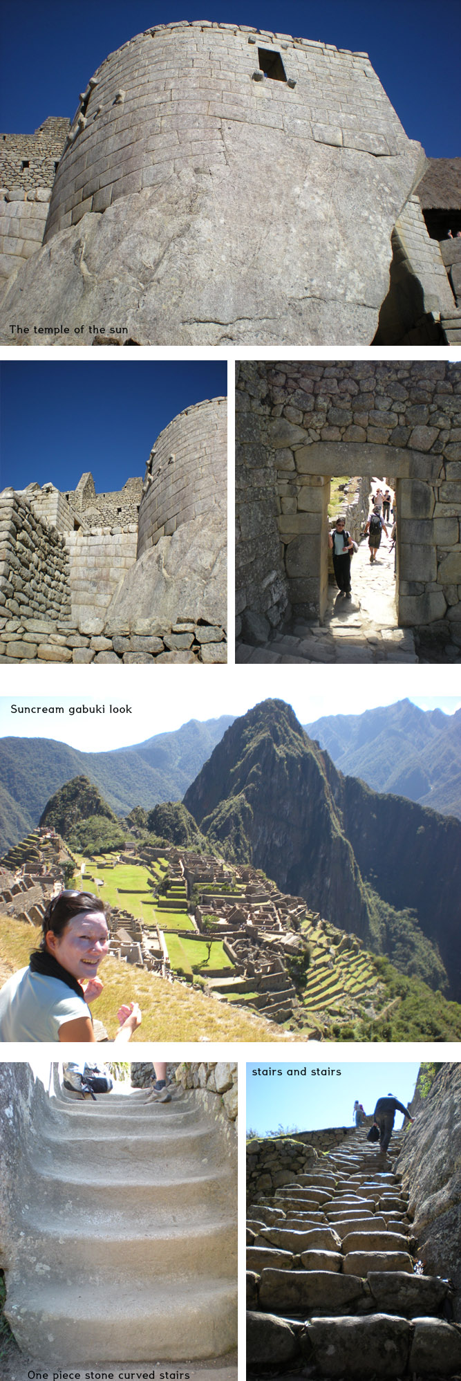 Trapezoid opening is original Inca style which is earthquake resistant.