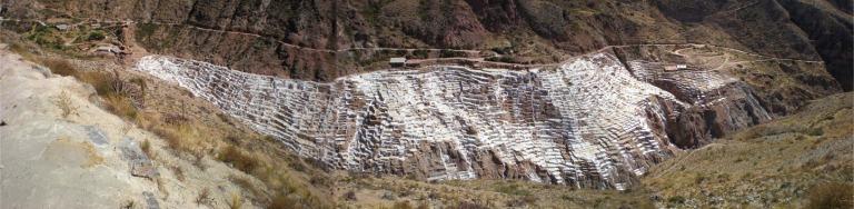 Salilnas(salt pans) in the valley