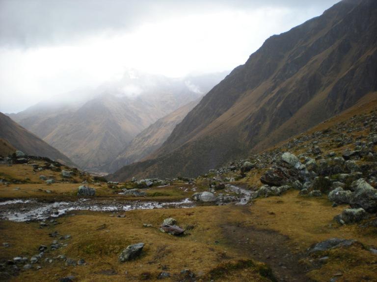The 1st night camping site : Salkantaypampa (3800m alt.)