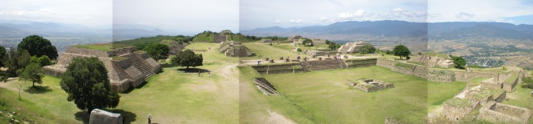 View of Monte Alban from the north platform