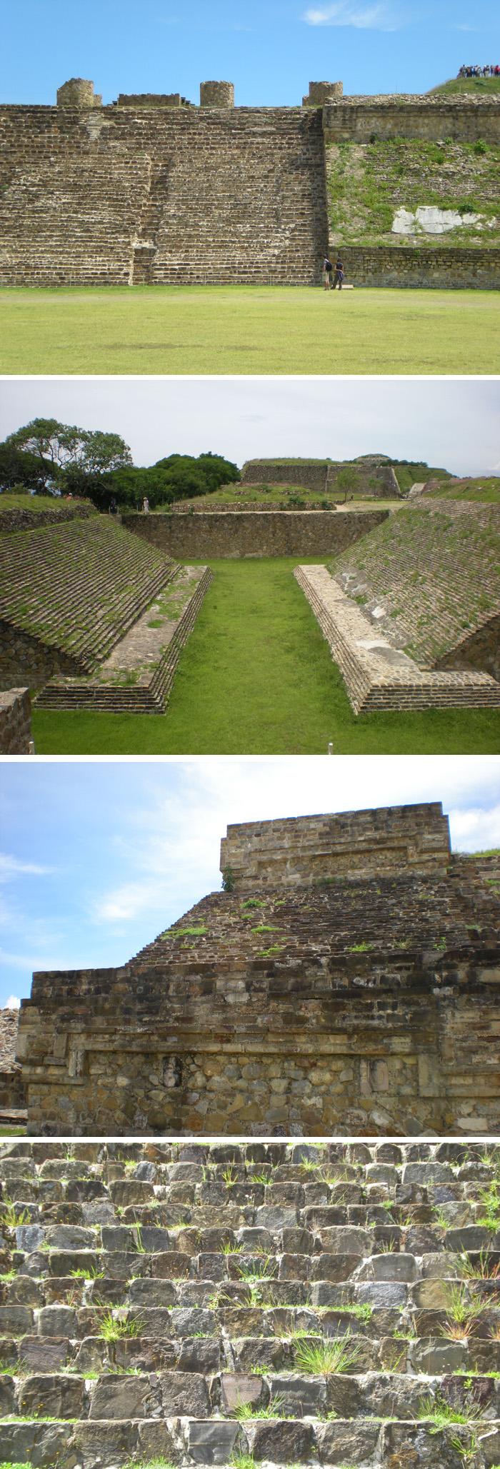 몬테알반은 잔디로 덮혀있다. 하지만 역설적으로 잔디는 폐허의 상징일 뿐이다.